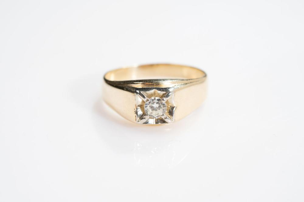 14KT Estate .30ct Diamond Mens Ring