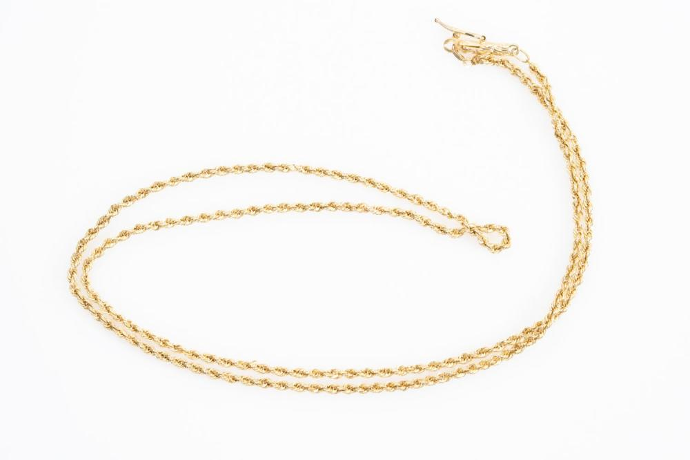 """14KY Estate Rope Chain 20"""""""