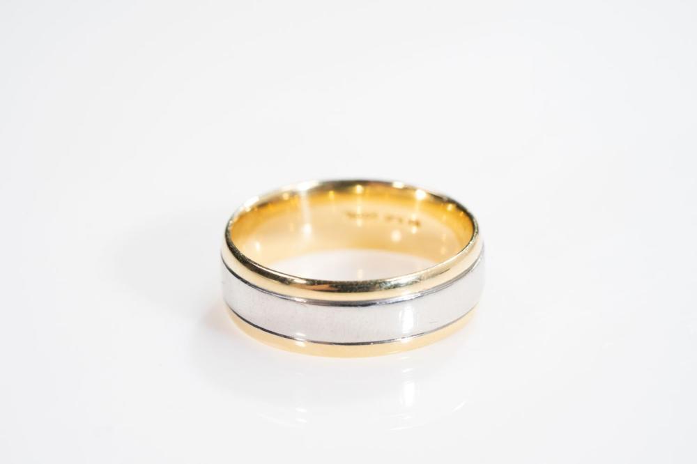 18KT/Platinum Mens Band Ring