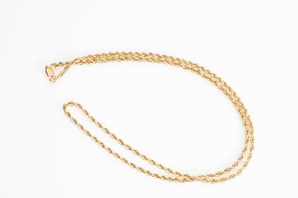 """14KT Estate Rope Chain 20"""""""