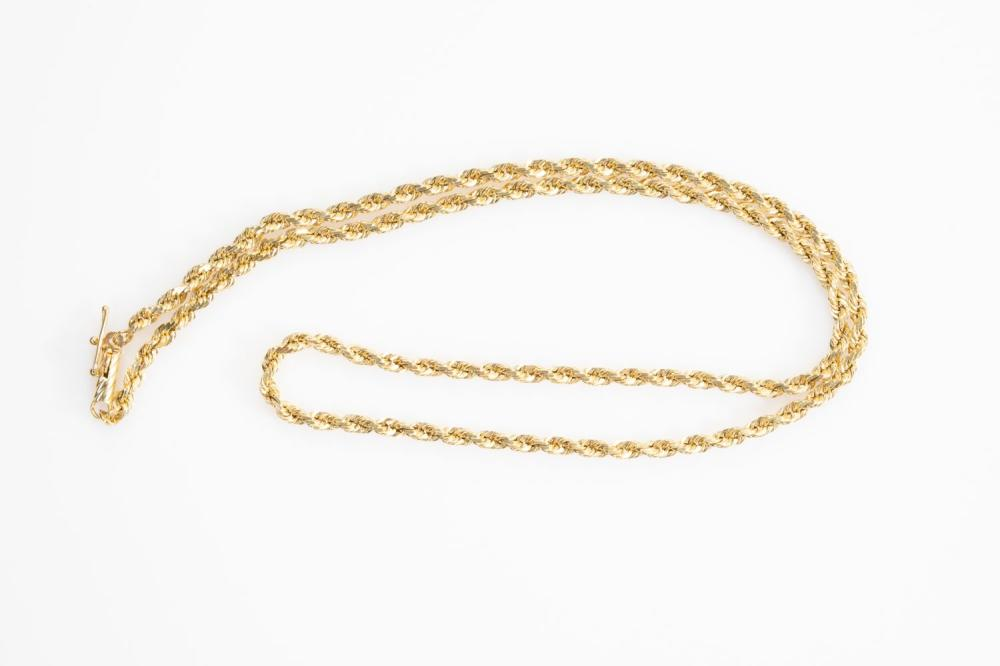 """14KT  Estate Rope Chain 18"""""""
