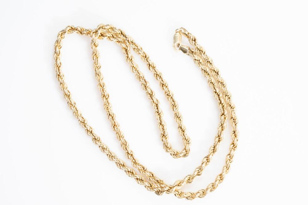 """10KT Estate Rope Chain 24"""""""