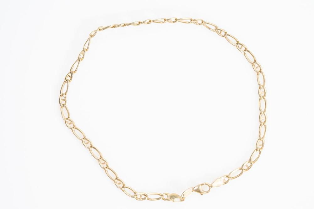 """14KY Italian Gucci Link Anklet 10.5"""""""