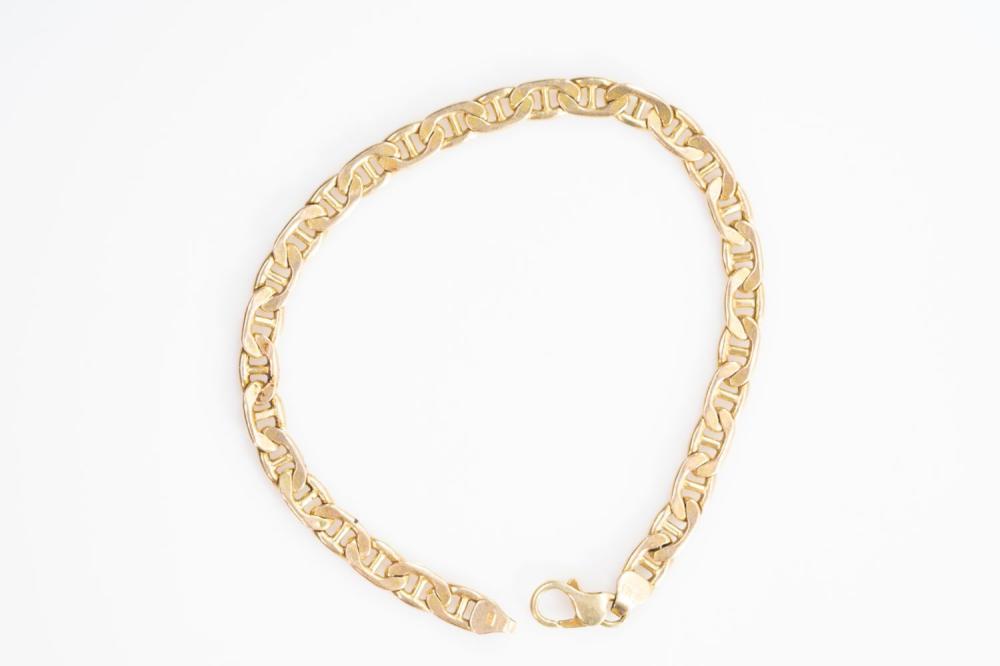 "14KY Italian Gucci Link Bracelet 8"""