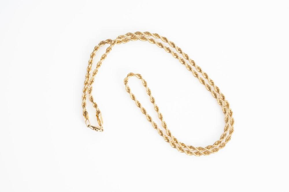 """14KY Estate Rope Chain 18"""""""