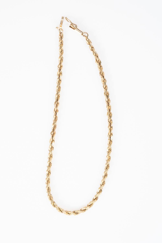 """14KY Estate Rope Bracelet 10"""""""