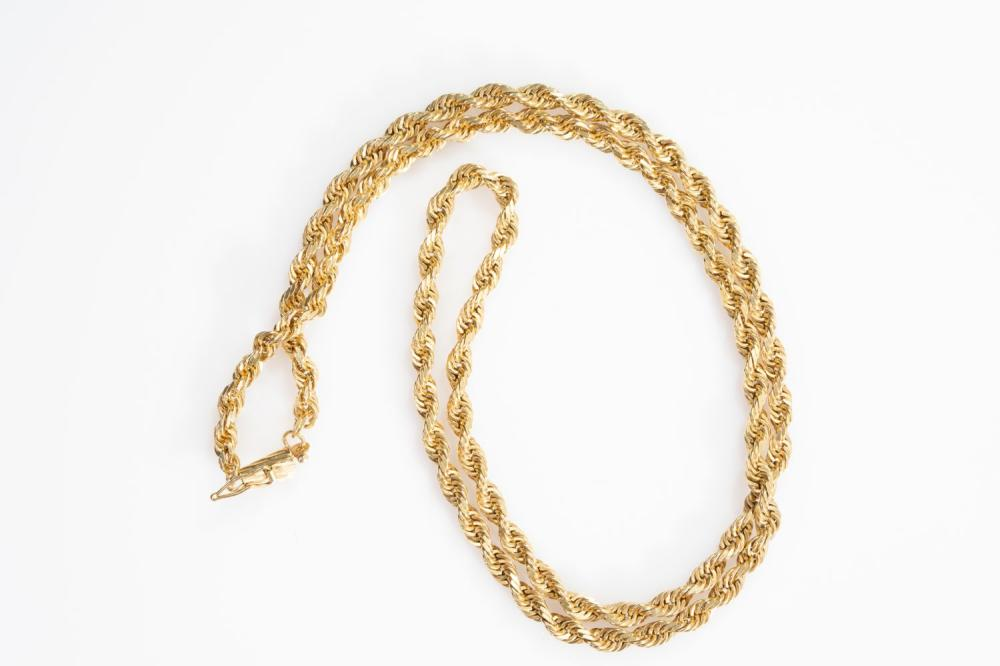 """14KY Estate Solid Rope Chain 20"""""""