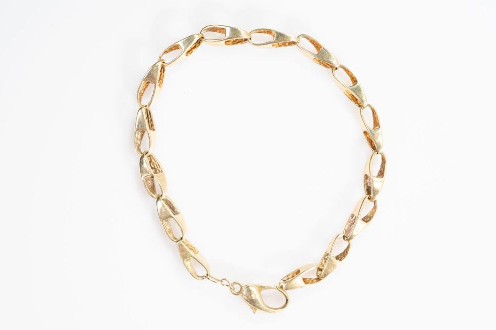 """14KY Solid Fancy Link Bracelet 8.5"""""""