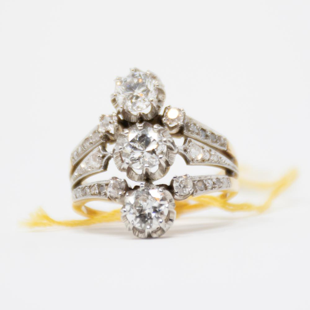 18KT/Platinum 1920s 2.00ct Diamond Ring
