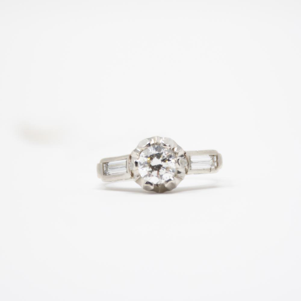 Platinum Estate 1.30ct Diamond Ring