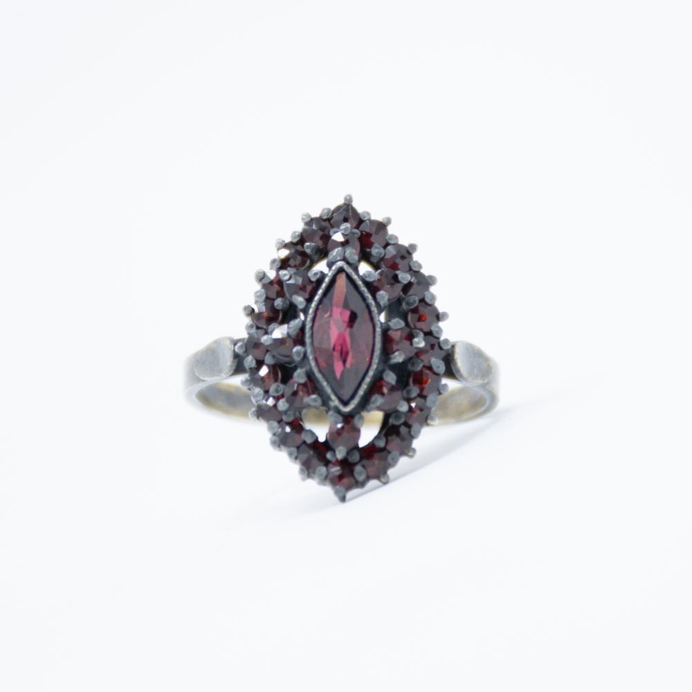 Antique Bohemian Garnet Ring