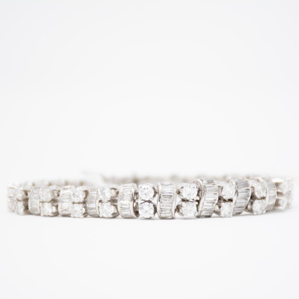 Platinum and 13ct diamond Bracelet
