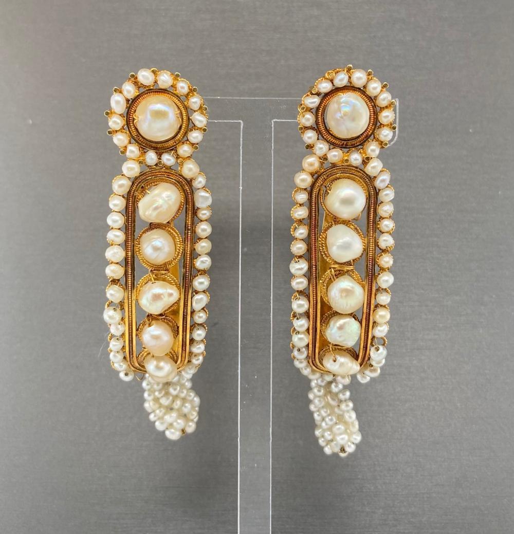 Victorian Pearl Earrings c.1880s