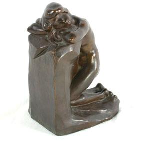 G. Aarons Signed Bronze Nude 1925 Gorham Foundry Mk