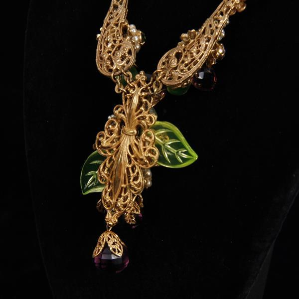Miriam Haskell 2pc. Necklace & Clip Earrings