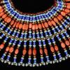 Image 7 for MIRIAM HASKELL Egyptian collar of coral & turquoise glass beads, gold & red cxrystal beads. Purchased at Marshall Fields in the 197...