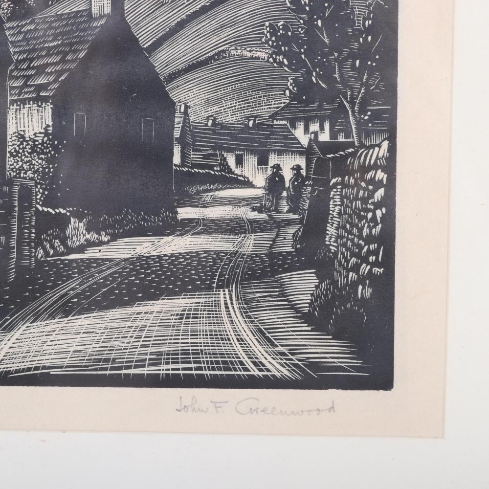"John Frederick Greenwood, (British, 1885-1954), Three, wood engravings, 6""H x 6""W (image) 11 1/4""H x 10 1/4""W (frame)"