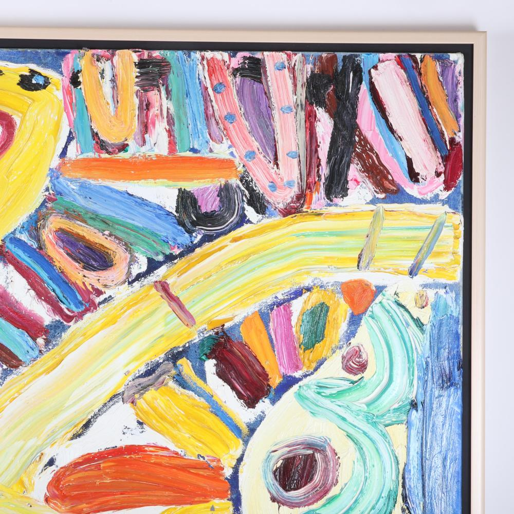 "Gillian Ayres, (UK, 1930-2018), Angel Heart, 1992, oil on canvas, 48""H x 36""W (image) 50 1/2""H x 38 1/2"" W (frame)"