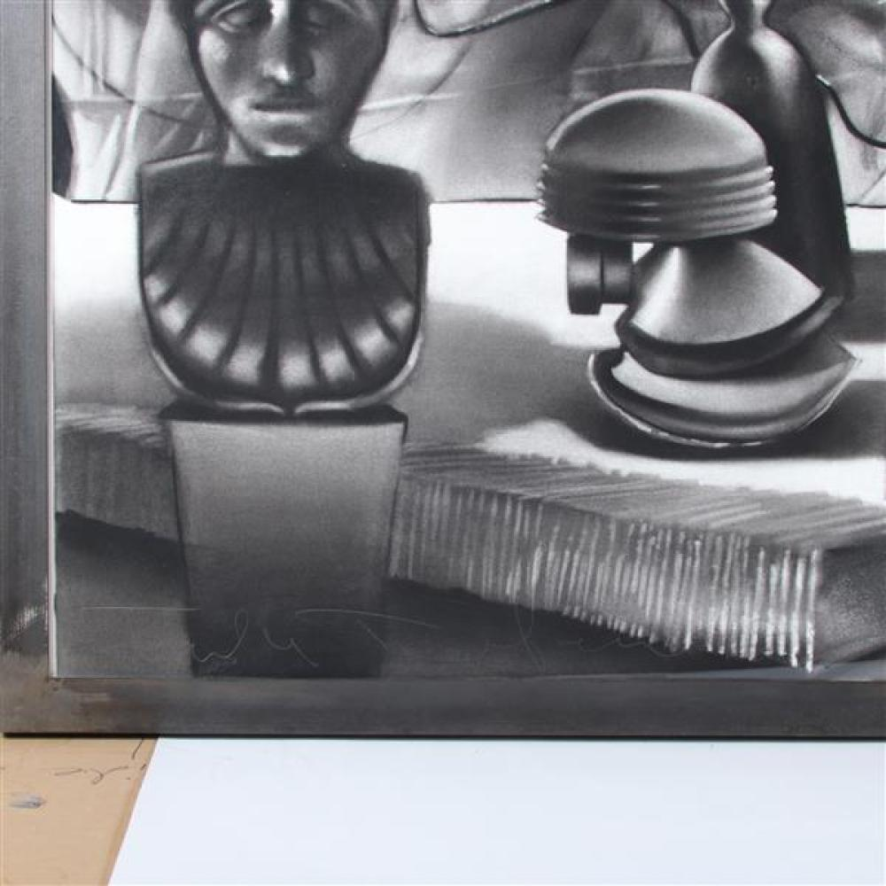 """Tula Telfair, (American, b. 1961), The Debate, 1989, LARGE SCALE charcoal / mixed media on paper, 36""""H x 61""""W (plate), 40 3/4""""H x 65 3/4""""W (paper)"""