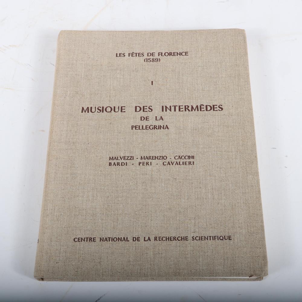 Six Centre National De La Recherche Scientifique books: Musick's Monument, Thomas Mace Vols I & II; Musique des Intermedes de la Pellegrina; Musique de la troupe de Shakespeare; La Resonance Dans Les Echelles Musicales,