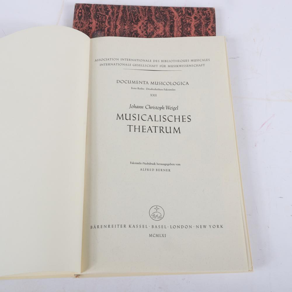 """Two Musical Texts given to Raymond Leppard and signed by authors: Christian Zacharias, Vorhalt- Nachklang and The English Symphonists of the Eighteenth Century, C. L. Cudsworth. 12""""H x 8 3/4""""W"""