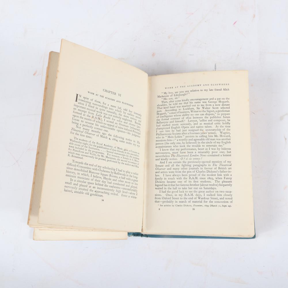 """A Musician's Narrative by Sir Alexander Campbell, Cassell and Company, 1927, with inscription and signature by the author on the title page. 1 3/4""""H x 6""""W x 8 3/4""""D"""