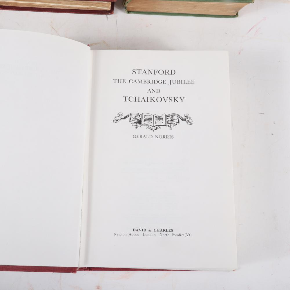 "C. V. Stanford 4 books: Studies and Memories signed by English composer C. H. Lloyd in 1908; Charles Villiers Stanford by Harry Plunket Greene, first edition 1935; Sir Charles V. Stanford by John F. Porte, 1921 1 1/2""H x"
