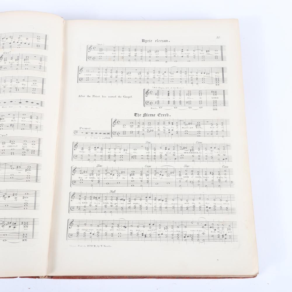 """The Organ Part to Dr. Boyce's (1711-1769) Collection of Cathedral Music, Arranged from the Score by Vincent Novello, London, dedicated to Her Most Gracious Majesty Queen Victoria, 1 3/4""""H x 11""""W x 15""""D"""