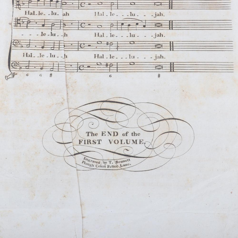 "Cathedral Music Being A Collection Being a Collection in Score of the Most Valuable & Useful Compositions by the Several English Masters, Dr. Samuel Arnold, London, M.DCC.LXXXX 2""H x 13W x 17""D"