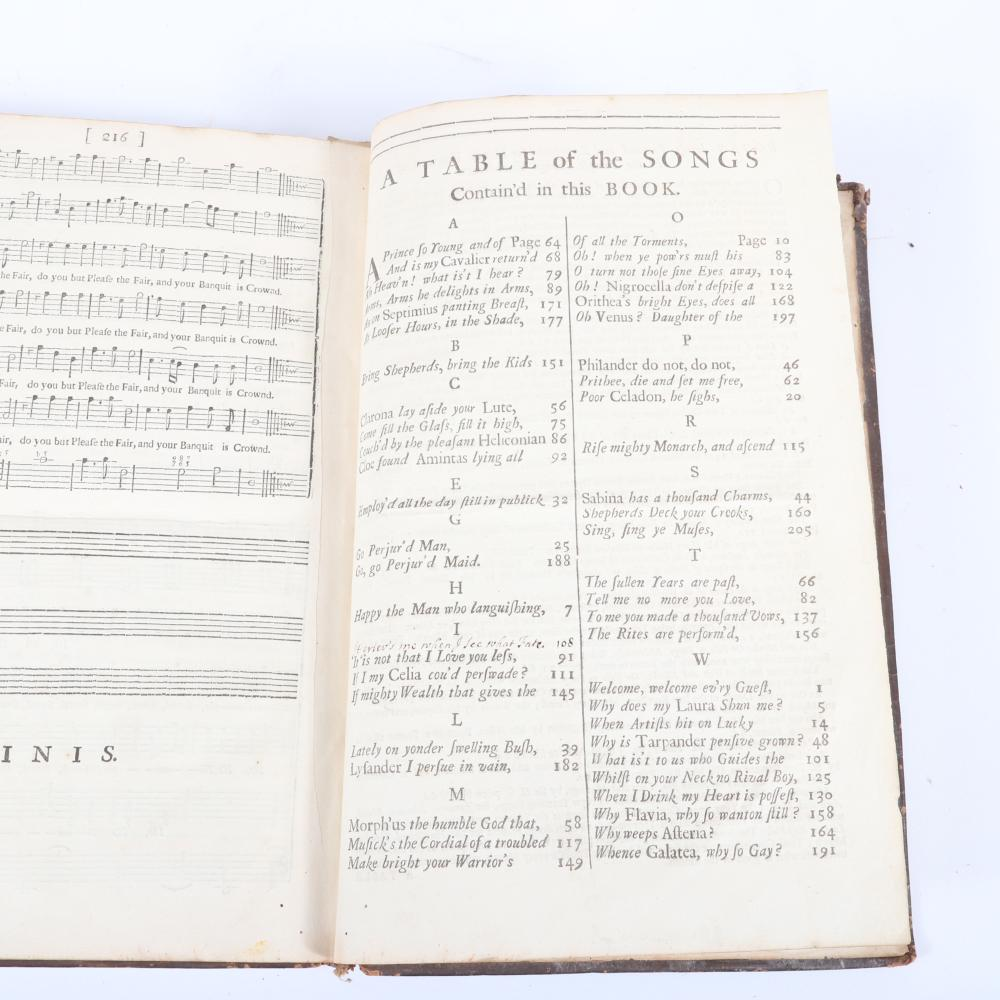 """Amphion Anglicus A Work of Many Compositions, For One, Two Three and Four Voices: Instrumental Music, Organ, Harpsichord or Theorboe-Lute by Dr. John Blow, London, 1700. 1 3/5""""H x 8 1/2""""W x 12 1/2""""D"""