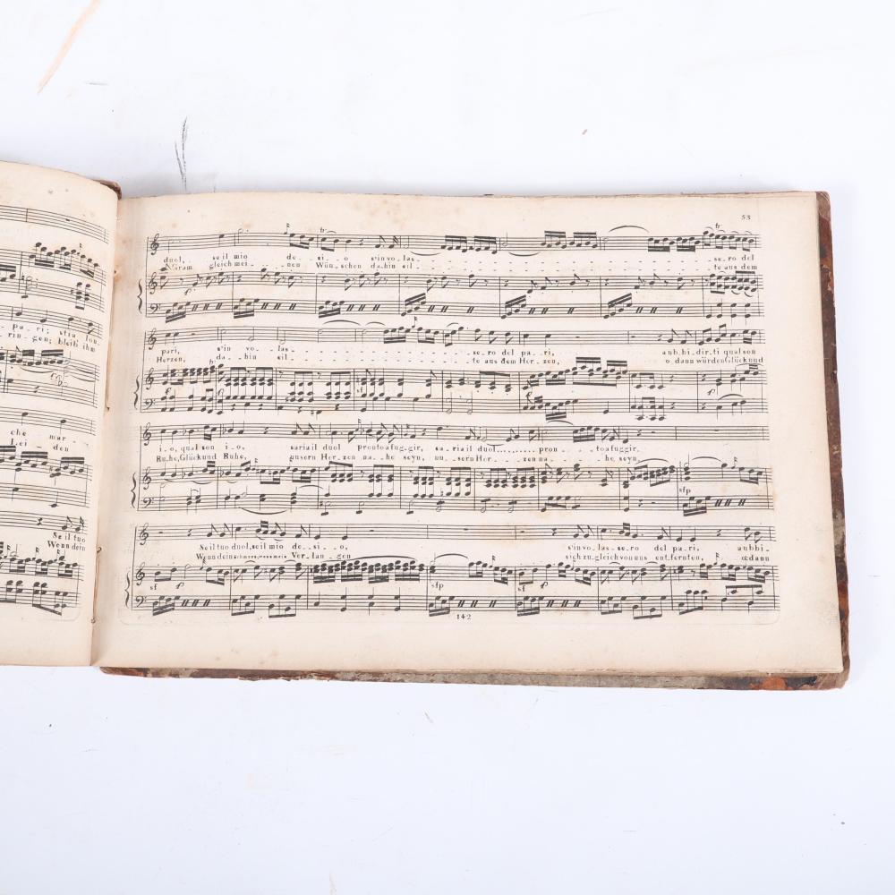 """Idomeneus Konig von Creta; Oper in drei Aufzugen von W. Mozart. Vollstandiger Clavier-Auszug mit ital. und deutsch. Texte. No 142, Braunschweig bei G. M. Meyer Jr. 1""""H x 11""""W x 7 1/2""""D"""
