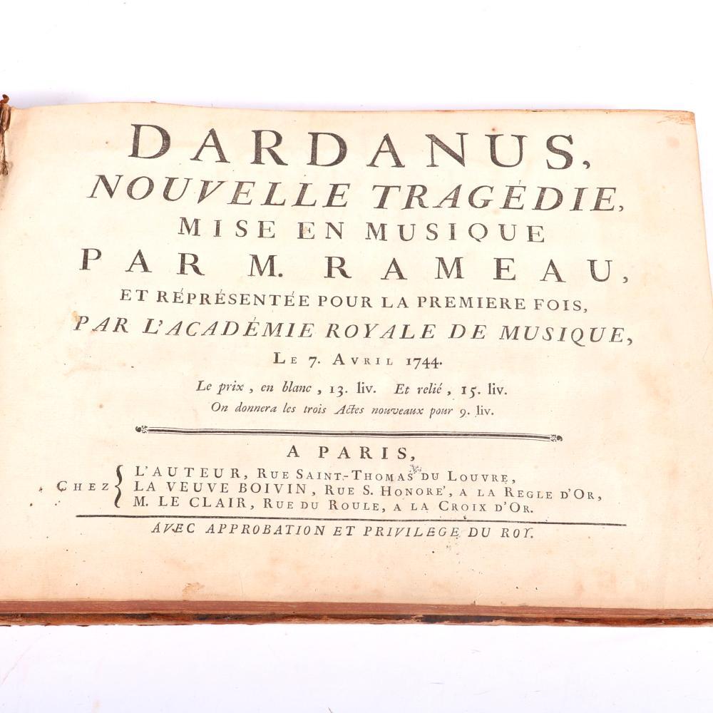 """Dardanus. Prologue. Le Theatre represente les Jardins de l'Amour a Cytherea, on y voit ce Dieu sur un Threne de fleurs, Venus esl a ses cotez, Les Graces, 1744 1 1/2""""H x 13 1/4""""W x 9 1/2""""D"""