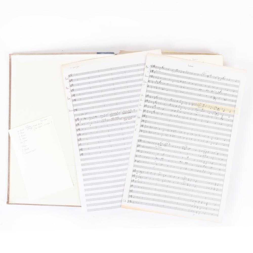 "Jean-Philippe Rameau, Dardanus, full score Performing Edition by Maestro Raymond Leppard, with hand-written notes and revised scores. 1 1/4""H x 13""W x 17 3/4""D"