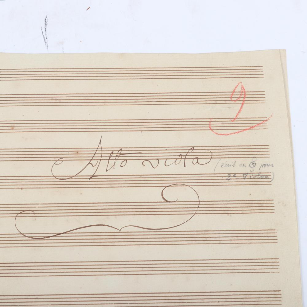 "Carl (Charles / Karl) Stamitz (1705-1801) nine part symphonie score etchings with Fac-Simile ""Stamitz Simphonie Concertnate."" 1/2""H x 11 1/2""W x 14 1/2""D"