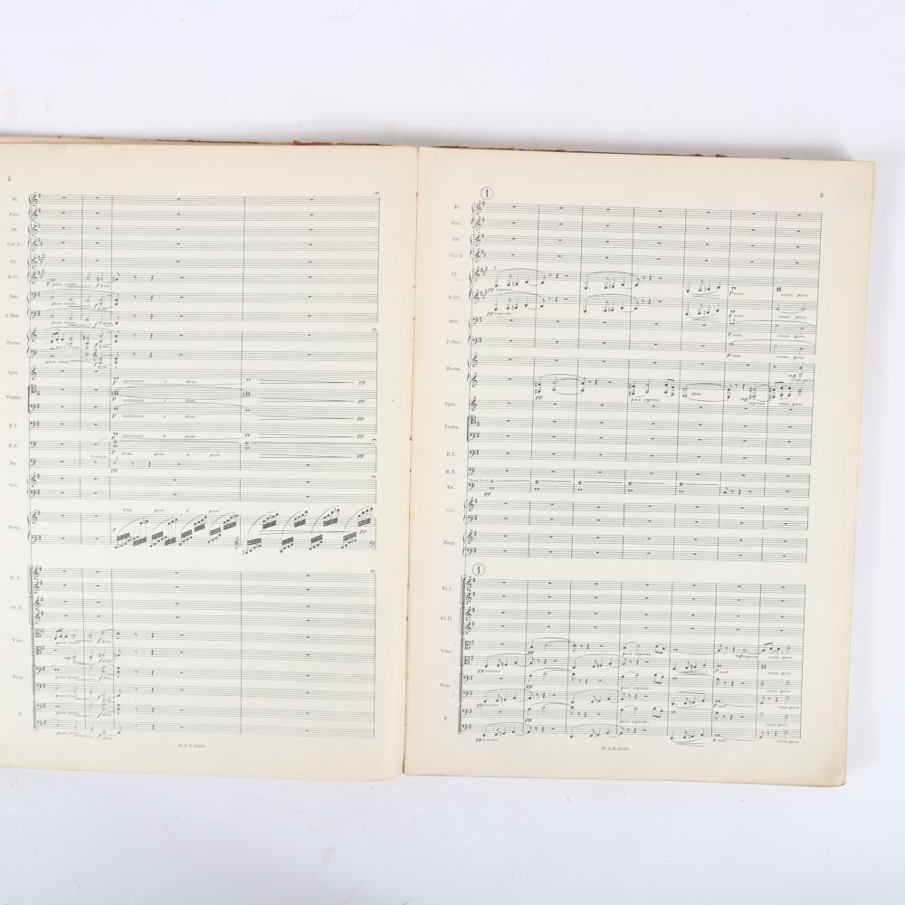 "Carnegie Collection of British Music, Hebridean Symphony for Orchestra by Granville Bantock, Stainer & Bell Limited, London, 1920, with signature of conductor Ernest Read. 1""H x 12""W x 17""D"