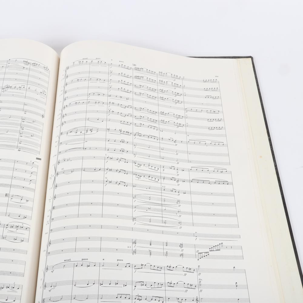 "Frederick Delius Complete Works, Revised and Edited by Sir Thomas Beecham, Bart, Volume 4, A Village Romea and Juliet, Lyric Drama in Six Scenes after Gottfried Keller Full Score, Boosey & Hawkes. 1""H x 14 1/4""W x 20 1/4"
