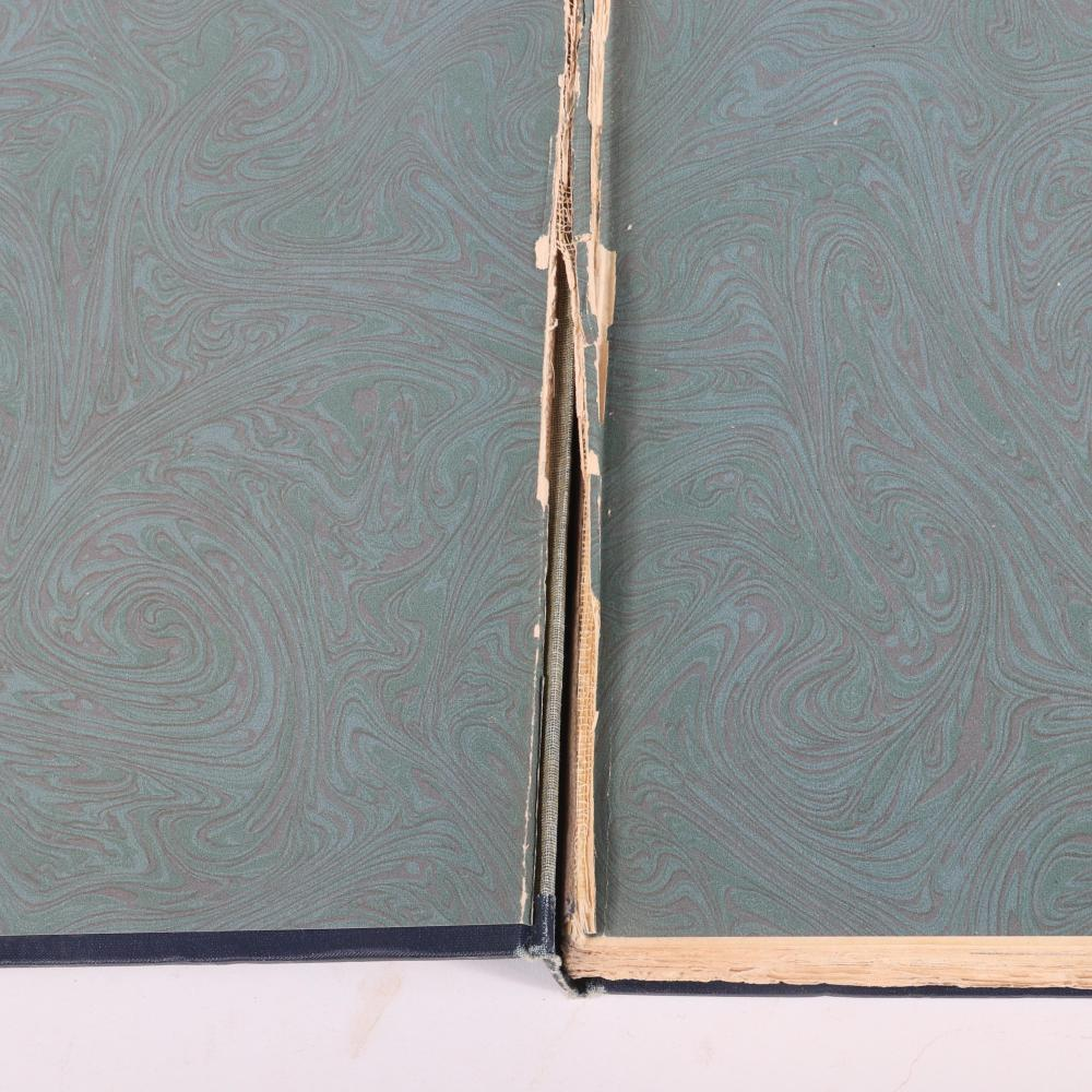 """Five Beethoven Books: 3 vols, The Live of Ludwig Van Beethoven by Alexander Wheelock Thayer, 1921; Beethoven the Creator by Roman Rolland, 1929; Beethoven's Unterricht. 1 3/4""""H x 6 3/4""""W x 9 3/4""""D (the Creator)"""