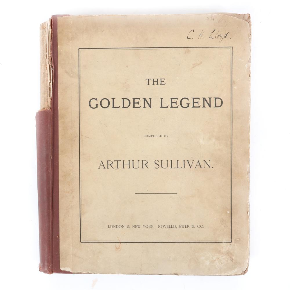 """The Golden Legend Composed Adapted from the Poem of Longfellow by Joseph Bennett, The Music Composed by Arthur Sullivan, Full Score, London & New York: 1886, Novello, Ewer & Co. 1 1/2""""H x 11 1/2""""W x 14""""D"""