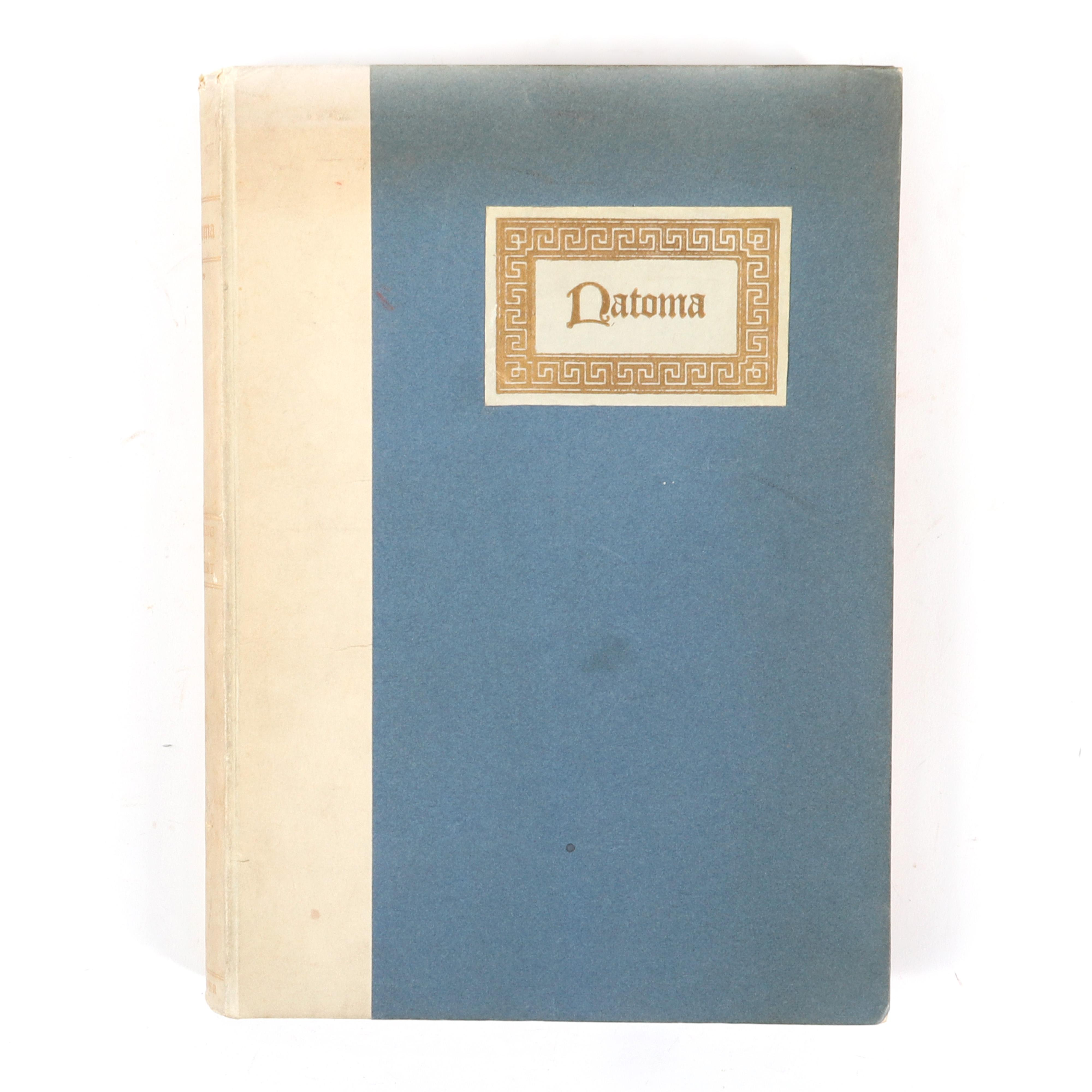 """Autographed book: Natoma, An Opera in Three Acts, The Book By Joseph D. Redding, The Music by Victor Herbert; New York; G Schirmer, 1910; No. 2 of special edition of 250 copies. 1 1/4""""H x 8""""W x 11""""D"""