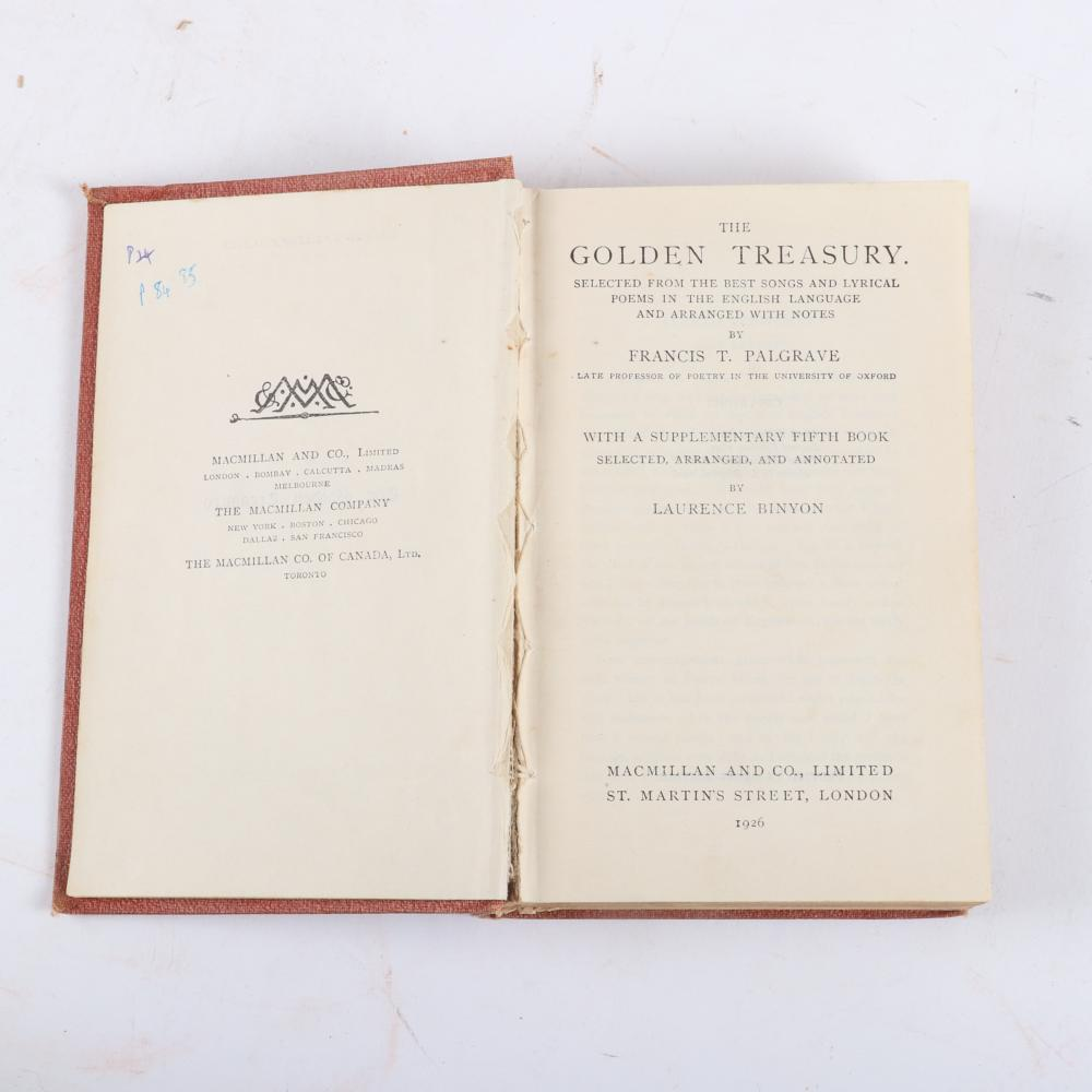 "Twelve vintage Music & scores: 4 Novello's Original Octavo Edition scores; 6 of Somervell's ""The Musical Pilgrim"" Series; The Golden Treasury, Palgrave; Rameau's Nephew, Diderot. 1/4""H x 7""W x 10""D (May Queen)"