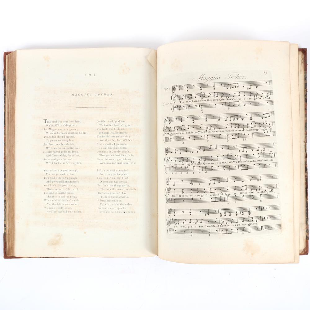 "A Selection of Original Scots Songs in Three Parts, The Harmony by Haydn, Dedicated by Permission to Her Royal Highness the Duchess of York, Vol II, London, William Napier. 1""H x 10 3/4""W x 14 3/4""D"