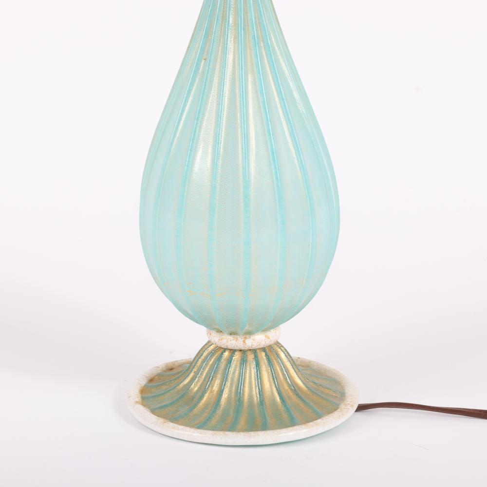 """Barovier & Toso Murano art glass lamp. 15""""H (without shade)"""