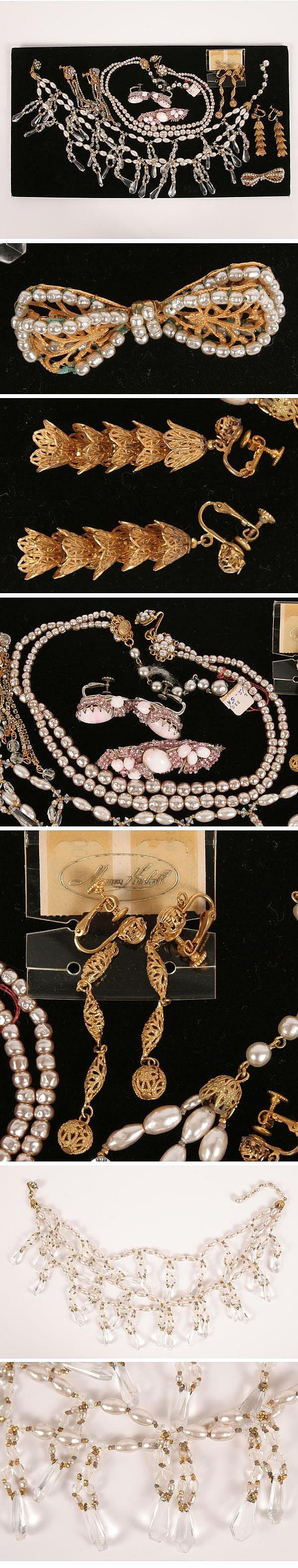 Vintage Costume Jewelry 8pc Miriam Haskell
