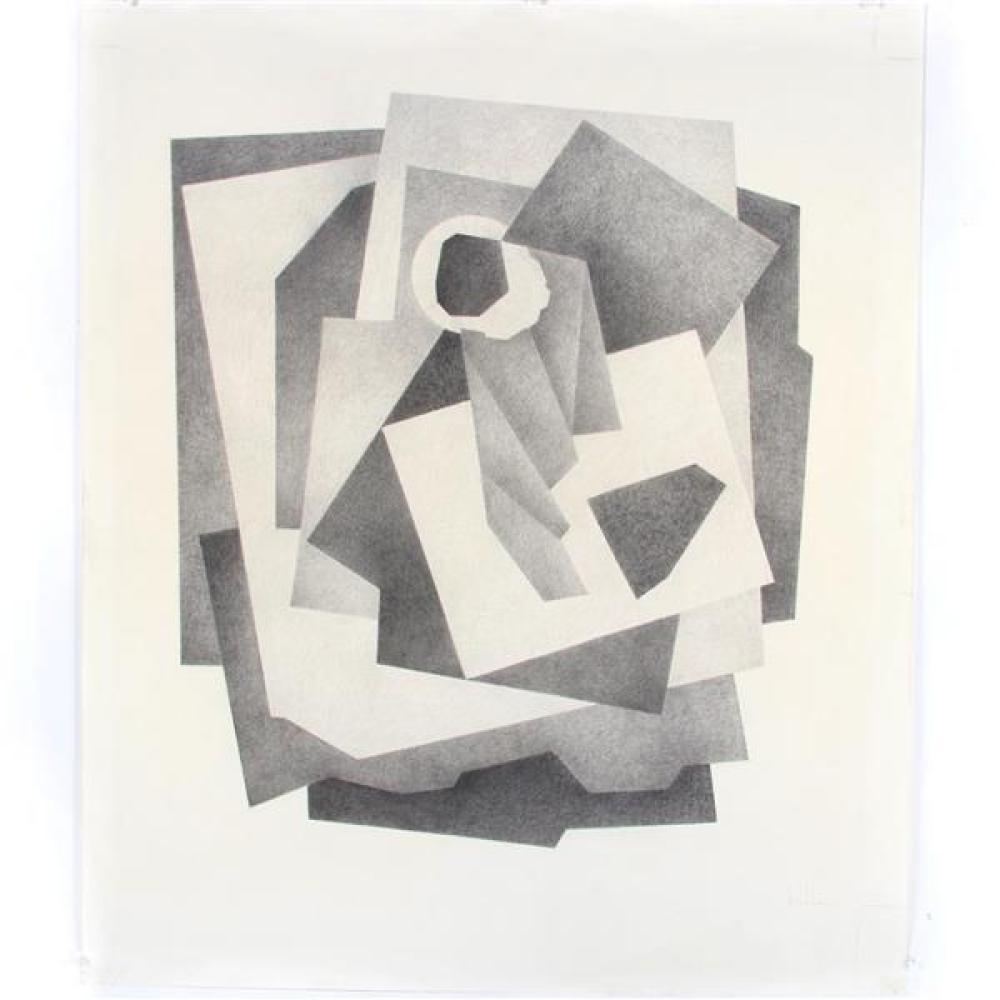 """Erwin Kalla, (Pennsylvania, 1935-2005), untitled, pencil / graphite on paper, 37 1/4""""H x 31 1/4""""W"""