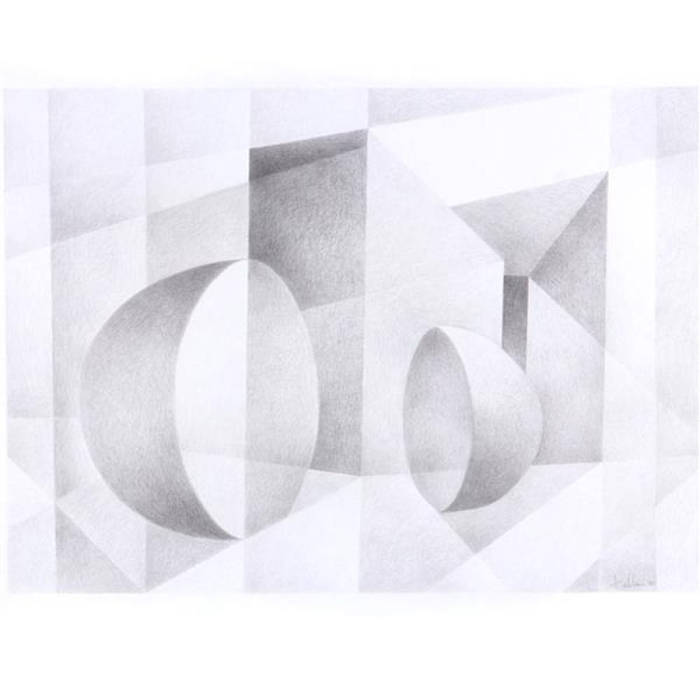 "Erwin Kalla, (Pennsylvania, 1935-2005), untitled, 1996, pencil / graphite on paper, 21 1/4""H x 29 1/4""W (image), 32""H x 40""W (sheet)"