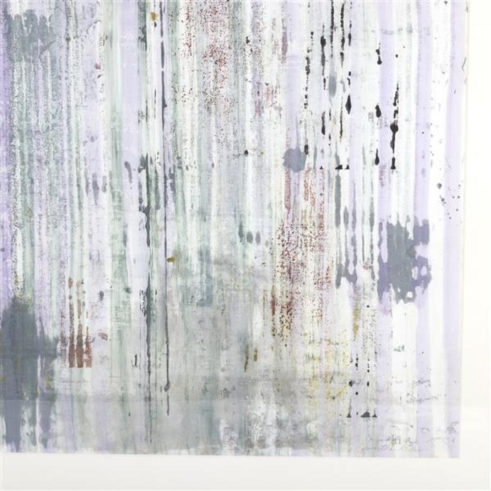 Marthe Keller, (American, 20th Century), Zinker, mixed media on paper, 25 1/2