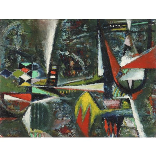 "Karl Knaths, (Massachusetts / Wisconsin, 1891 - 1971), untitled, 1939, oil on board, 17 1/2""H x 23 1/4""W (sight), 21""H x 27""W (frame..."