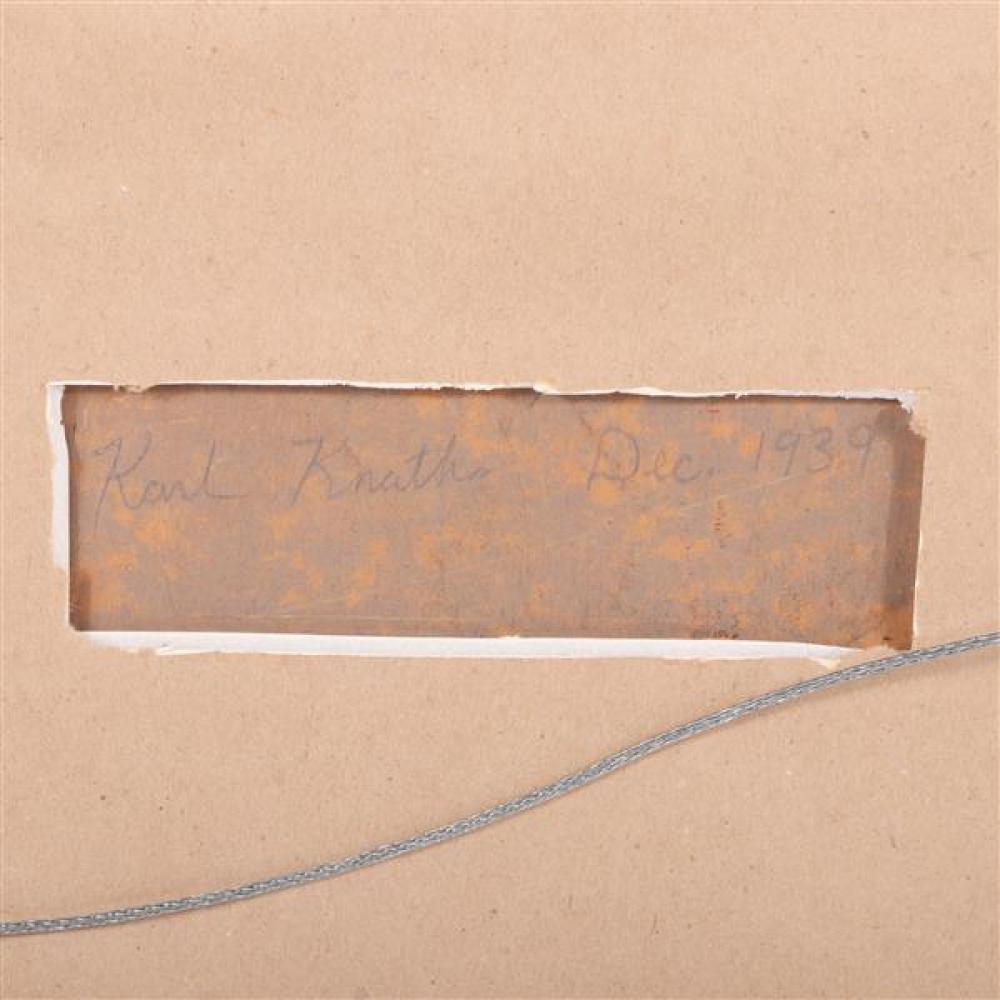 Karl Knaths, (Massachusetts / Wisconsin, 1891 - 1971), untitled, 1939, oil on board, 17 1/2