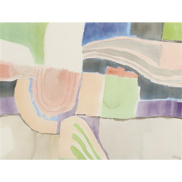 "William Thomas Lumpkins, (New Mexico / California, 1908-2000), Abstract #43, 1978, watercolor on paper, 17 1/4""H x 23 1/4""W (sight),..."
