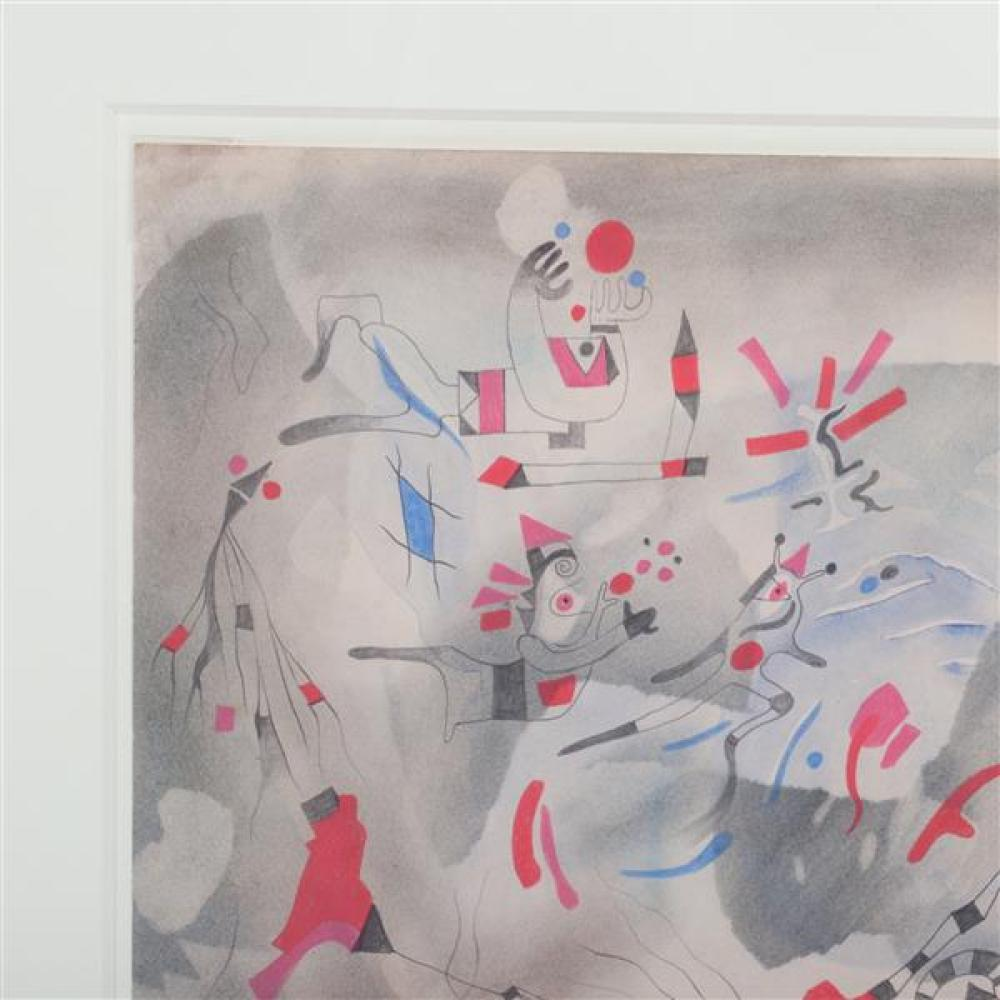 Julio De Diego, (New York / California / Spain, 1900 - 1979), untitled, 1947, mixed media on paper, 11 1/2